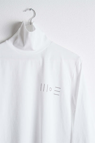 High Neck Logo Longsleeve - White