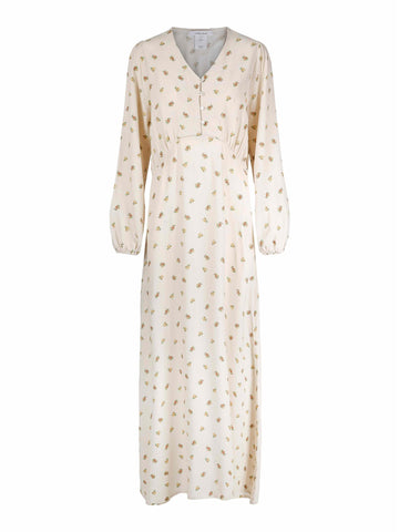Agnete Long Dress - Garden Flower