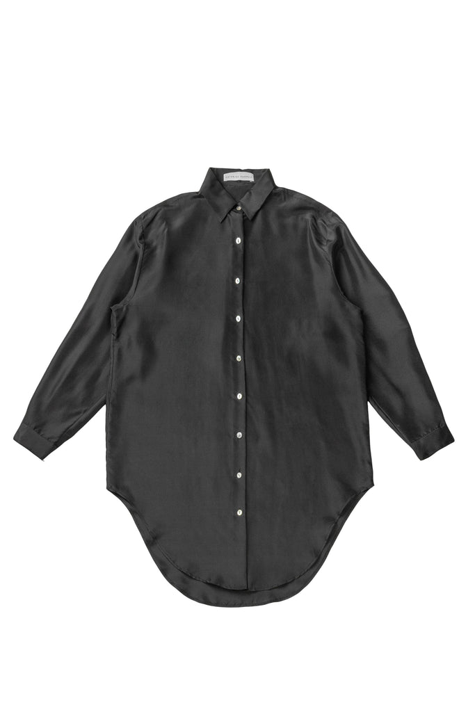 Silk Onesized Shirt - Black - F5 Concept Store