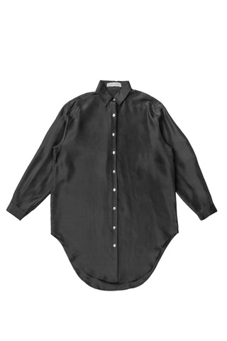 Silk Onesized Shirt - Black