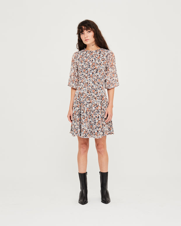 Kate Mini Dress - India Ink Print