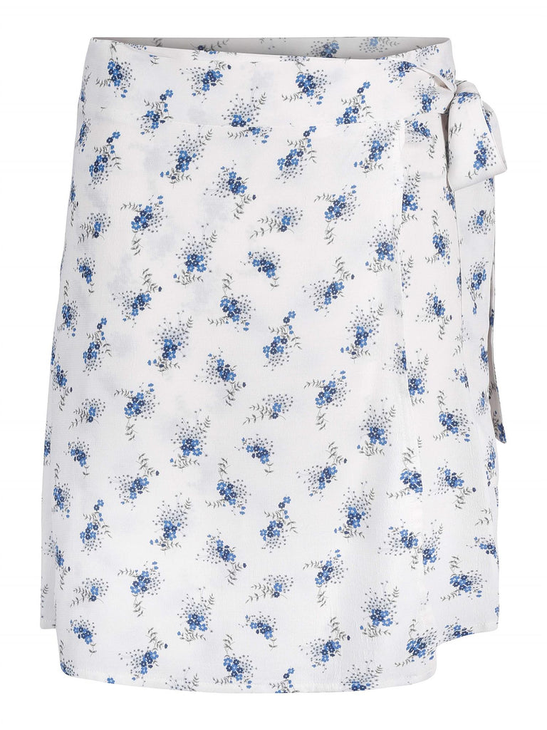 Anya Wrap Skirt - Blue Flower