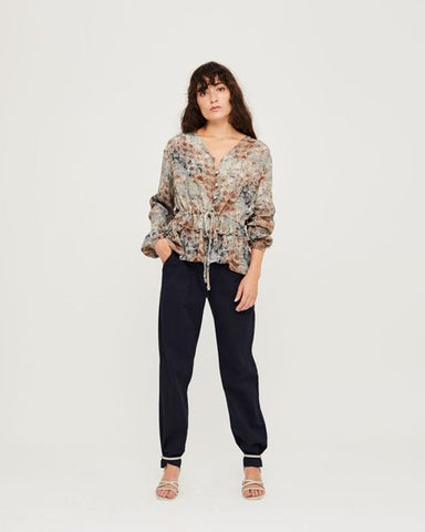 Janet Blouse - Flower Print