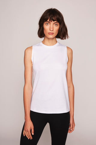 Nicole Sleeveless Top - White