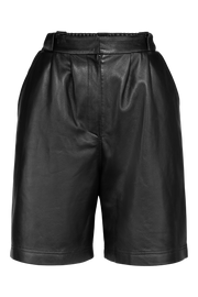 Bermuda Leather Shorts - Black - F5 Concept Store