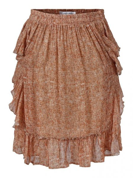 Juliet Ruffle Skirt - Pencil Print