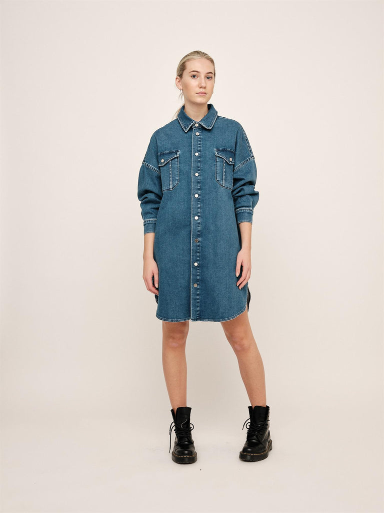 Lyla Oversized Shirt - Blue Denim