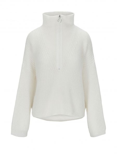 Florie Zipped Knit - Off White - F5 Concept Store