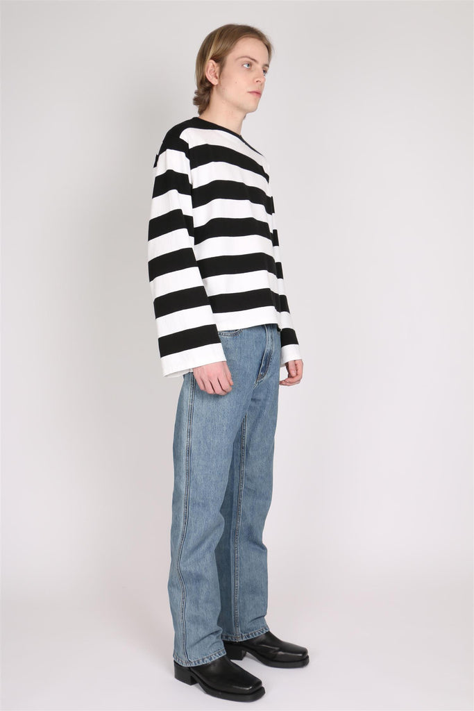 Bigmouth Knitted Sweater - Black/White Stripe