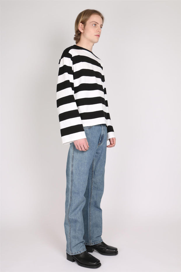 Bigmouth Knitted Sweater - Black/White Stripe - F5 Concept Store