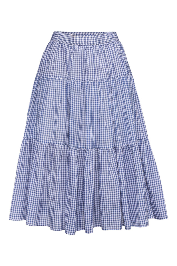 Checks Midi Skirt - Morning Blue - F5 Concept Store