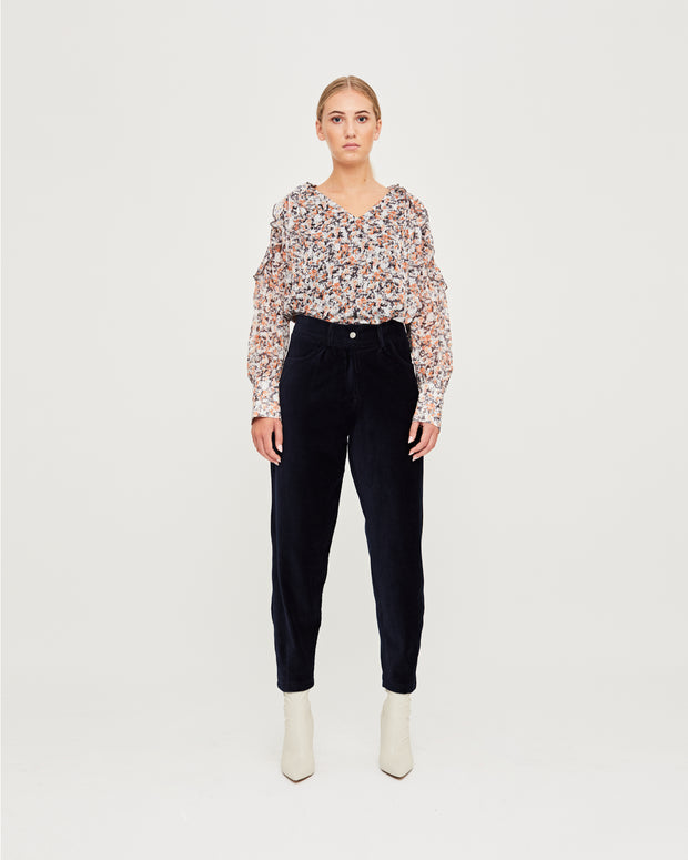 Katie Slouchy Trousers - Sky Captain