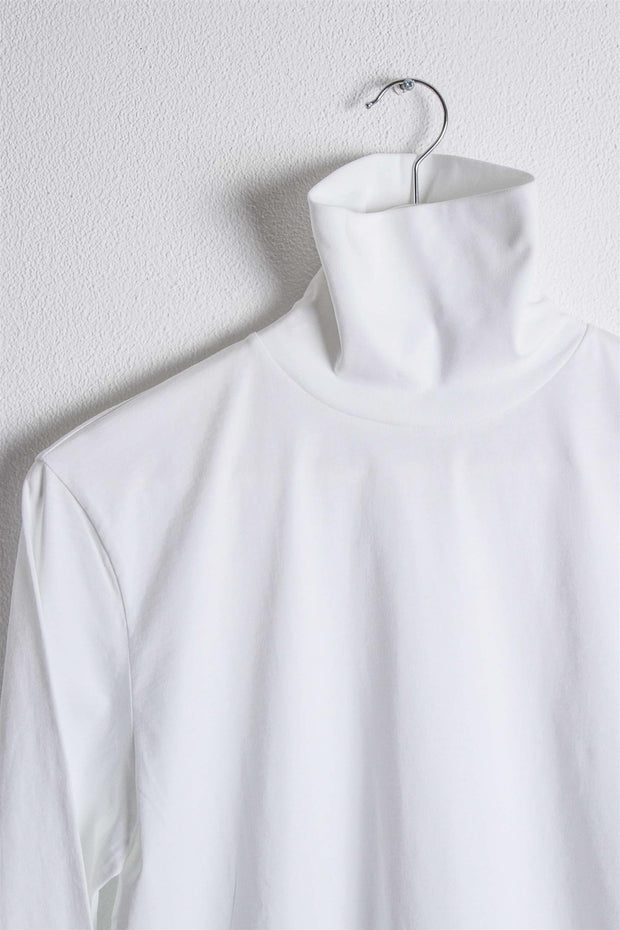 High Neck Longsleeve - White