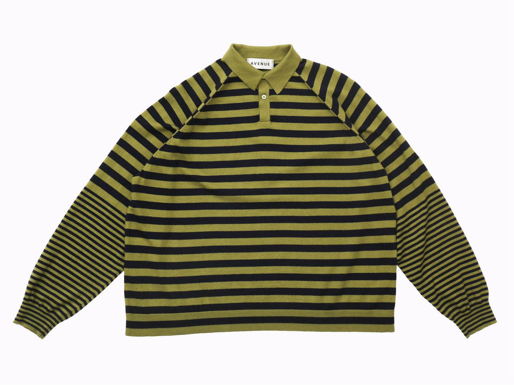 Teddy Polo - Green/Navy Stripe