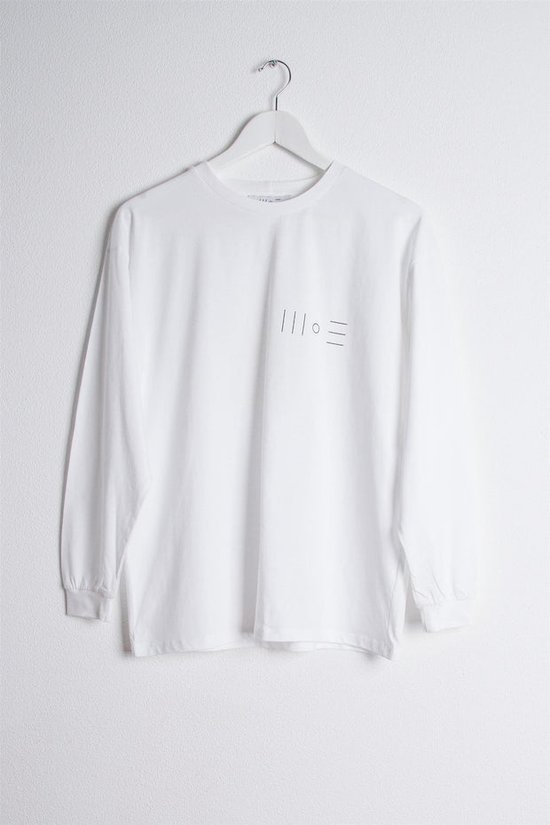 Chest Logo Longsleeve T-Shirt - White