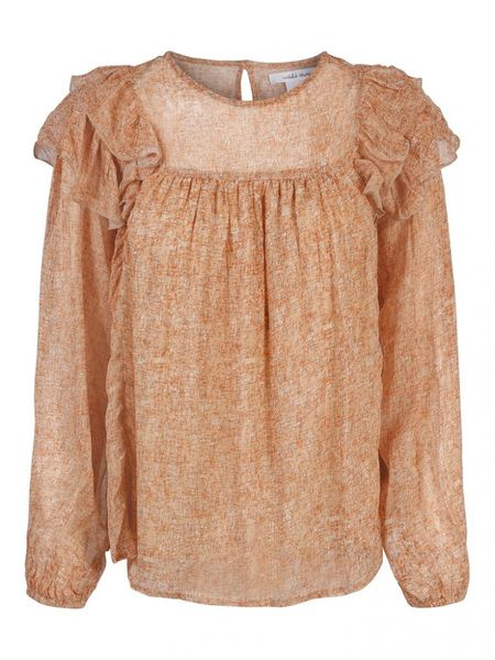 Juliet Ruffle Blouse- Pencil Print