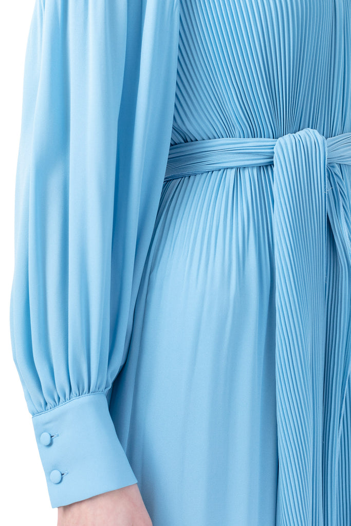 Miami Maxi Dress W/High Cuffs - Light Blue