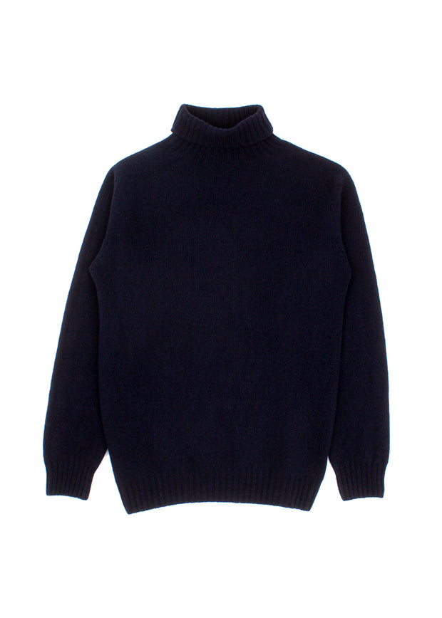Callum Turtleneck Sweater - Nero Navy