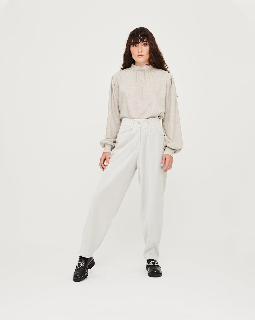 Katie Slouchy Trousers - Dawn Blue
