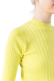 Ribbed Crewneck W/Shortsleeve - Sunny Yellow - F5 Concept Store