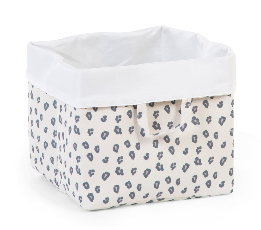 CANVAS BOX LEOPARD 12.5 x 12.5 x 11.5 inch