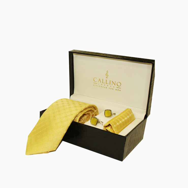 Callino London Yellow Men's Accessories Gift Set