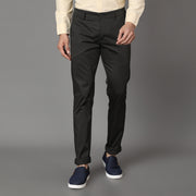Callino London Men's Olive Plain Casual Trouser