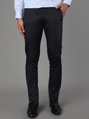 Callino London Men's Navy Plain Casual Trouser