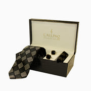Callino London Black & Grey Men's Accessories Gift Set
