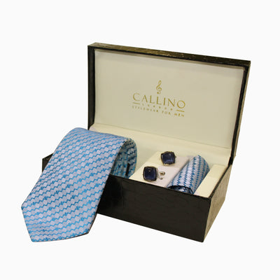 Callino London Blue Men's Accessories Gift Set