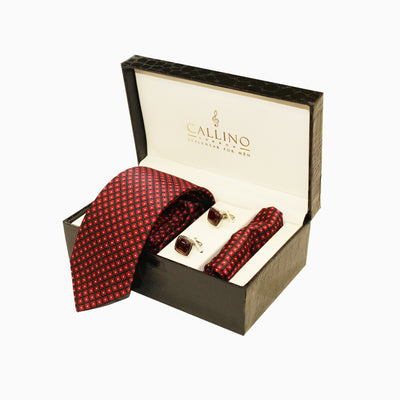 Callino London Red & Black Men's Accessories Gift Set