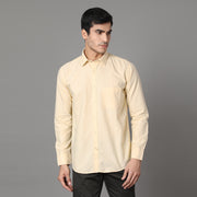 Callino London Men's Lemon Plain Casual Cotton Shirt