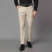 Callino London Men's Beige Formal Trouser