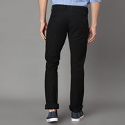 Callino London Men's Navy Textured Casual Trouser