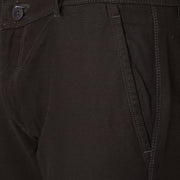 Callino London Men's Black Textured Casual Trouser