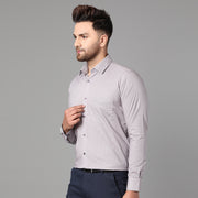 Callino London Men's Grey Checkered Casual Cotton Shirt