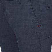 Callino London Men's Blue Checkered Casual Trouser