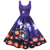 Robe Pin up Halloween Violet