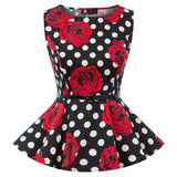 Haut Pin up Rockabilly <br> à Pois
