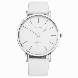 Watches Women Simple Style Fashion White Black Leather Wristwatch Ladies Casual Suit Watch Female Quartz Clock Reloj Mujer Saat