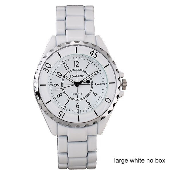 women quartz watches fashion ladies bracelet white watches BOAMIGO brand women dress wristwatches female clock relogio feminino