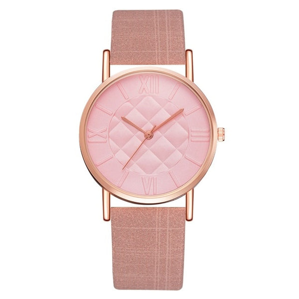 Fashion Women Leather Band Dress Quartz Wrist Watches Luxury Top Brand White Casual Ladies Wristwatch Relogio Feminino