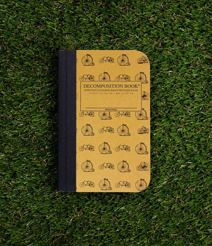 DECOMPOSITION NOTEBOOK, POCKET, RULED - VINTAGE BICYCLES