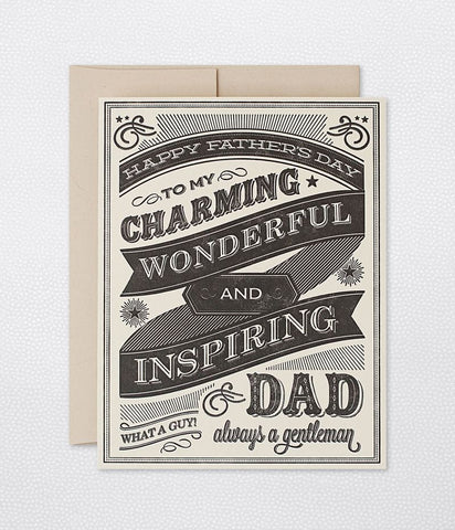 CHALKBOARD FATHER'S DAY - SINGLE CARD