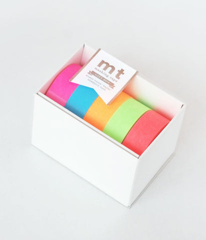 MT GIFT BOX - FIVE ROLLS NEON