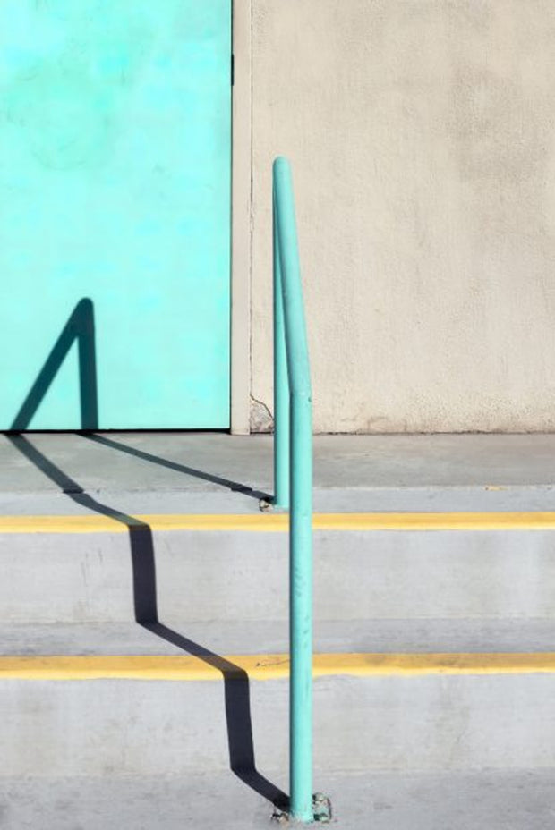 Natalie Christensen with Turquoise Rail print