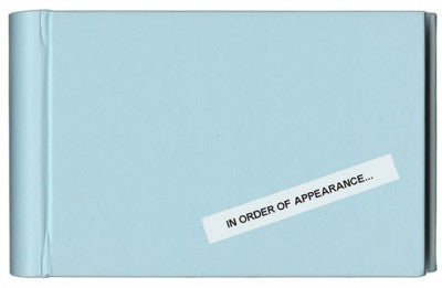 In Order of Appearance - Photobookstore