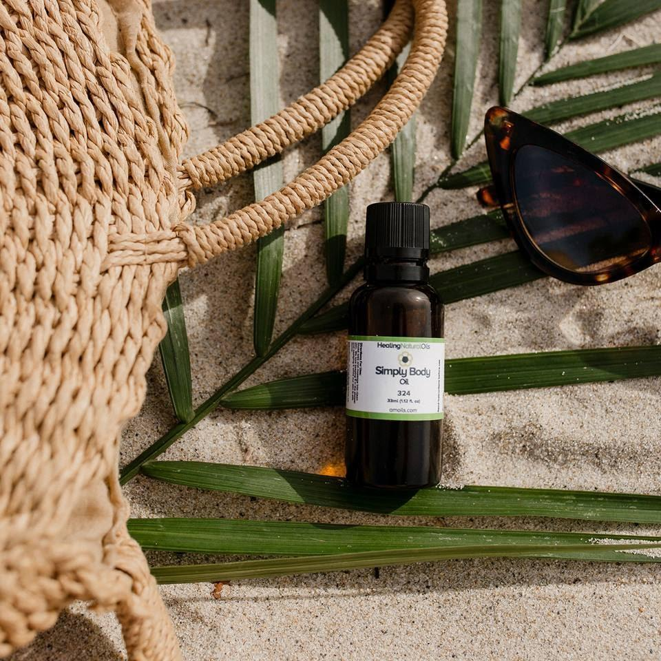 Simply body oil product page