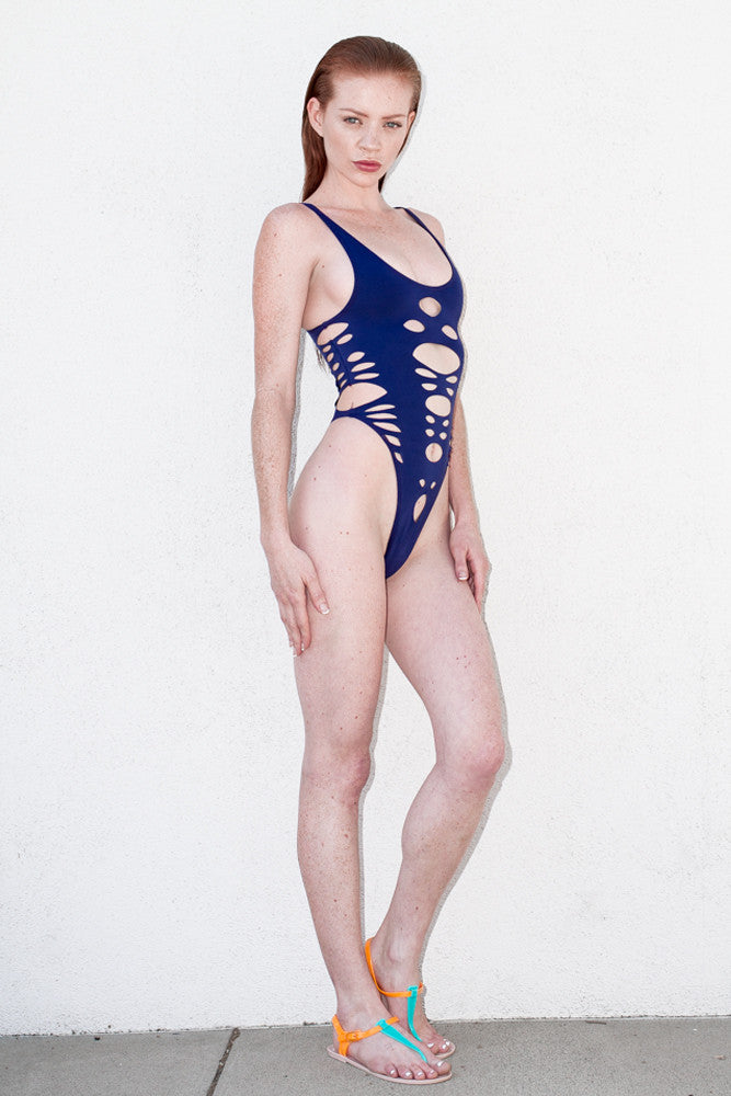 Blue One Piece Cut Out - ELLE
