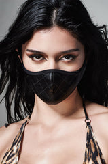 DUST FASHION FACEMASK_BLACK VEGAN LEATHER